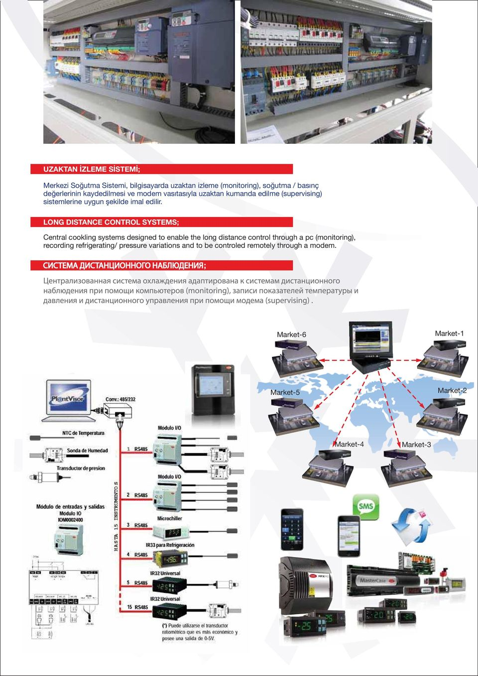 LONG DISTANCE CONTROL SYSTEMS; Central cookling systems designed to enable the long distance control through a pc