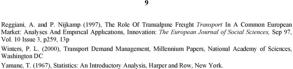Empırıcal Applıcatıons, Innovation: The European Journal of Social Sciences, Sep 97, Vol.