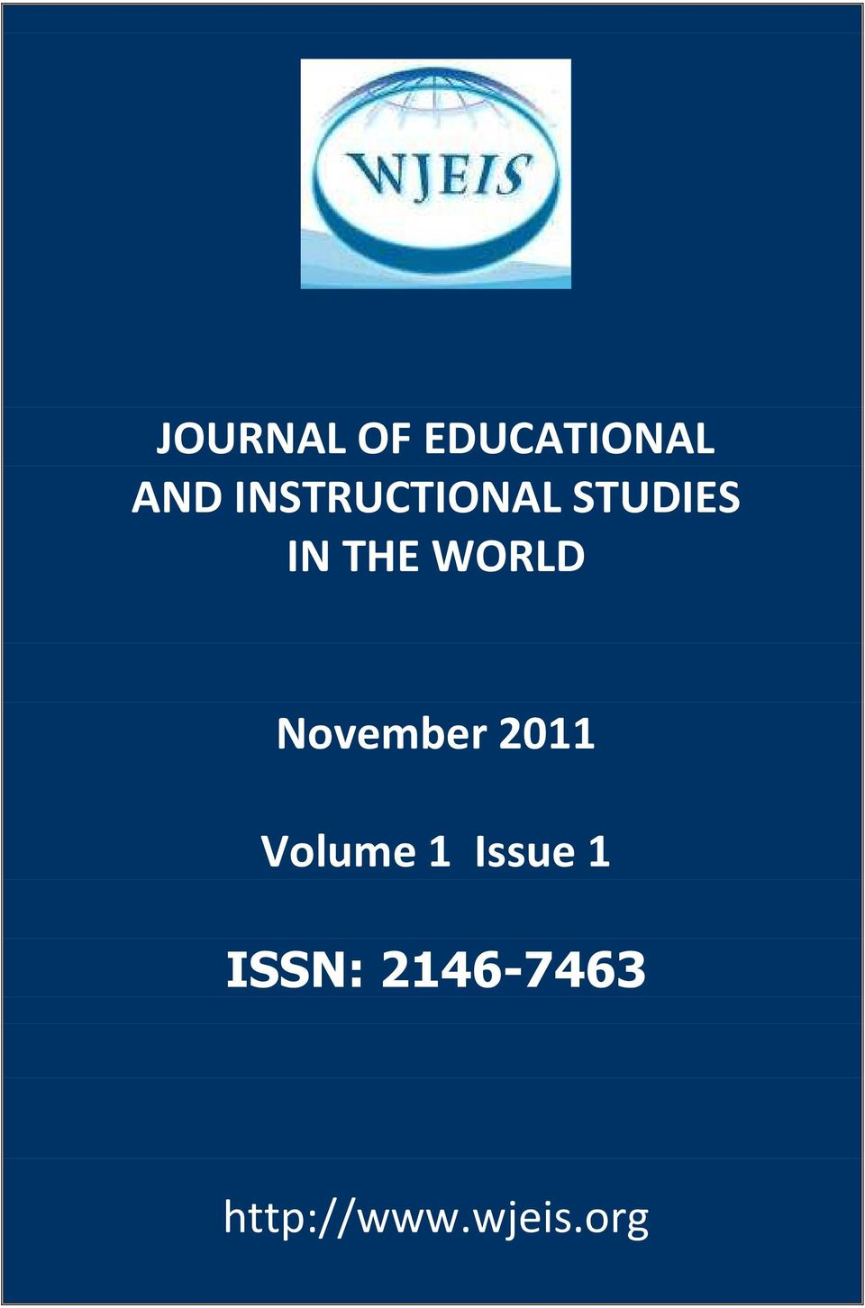 November 2011 Volume 1 Issue