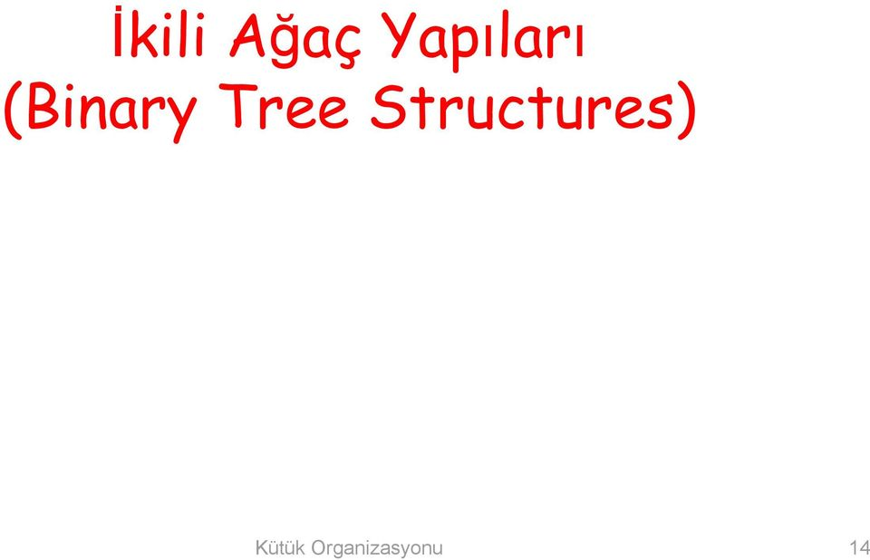 Tree Structures)