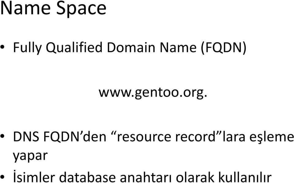 DNS FQDN den resource record lara