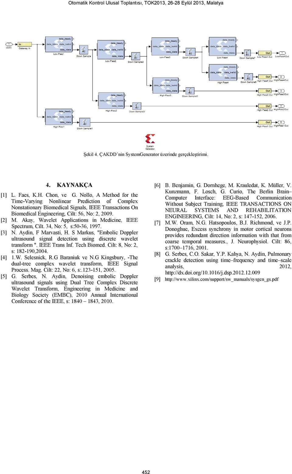 Akay, Wavelet Applications in Medicine, IEEE Spectrum, Cilt. 34, No: 5, s:50-36, 1997. [3] N. Aydin, F Marvasti, H.