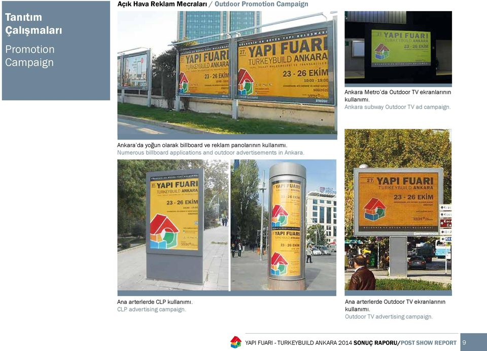 Numerous billboard applications and outdoor advertisements in Ankara. Ana arterlerde CLP kullanımı. CLP advertising campaign.
