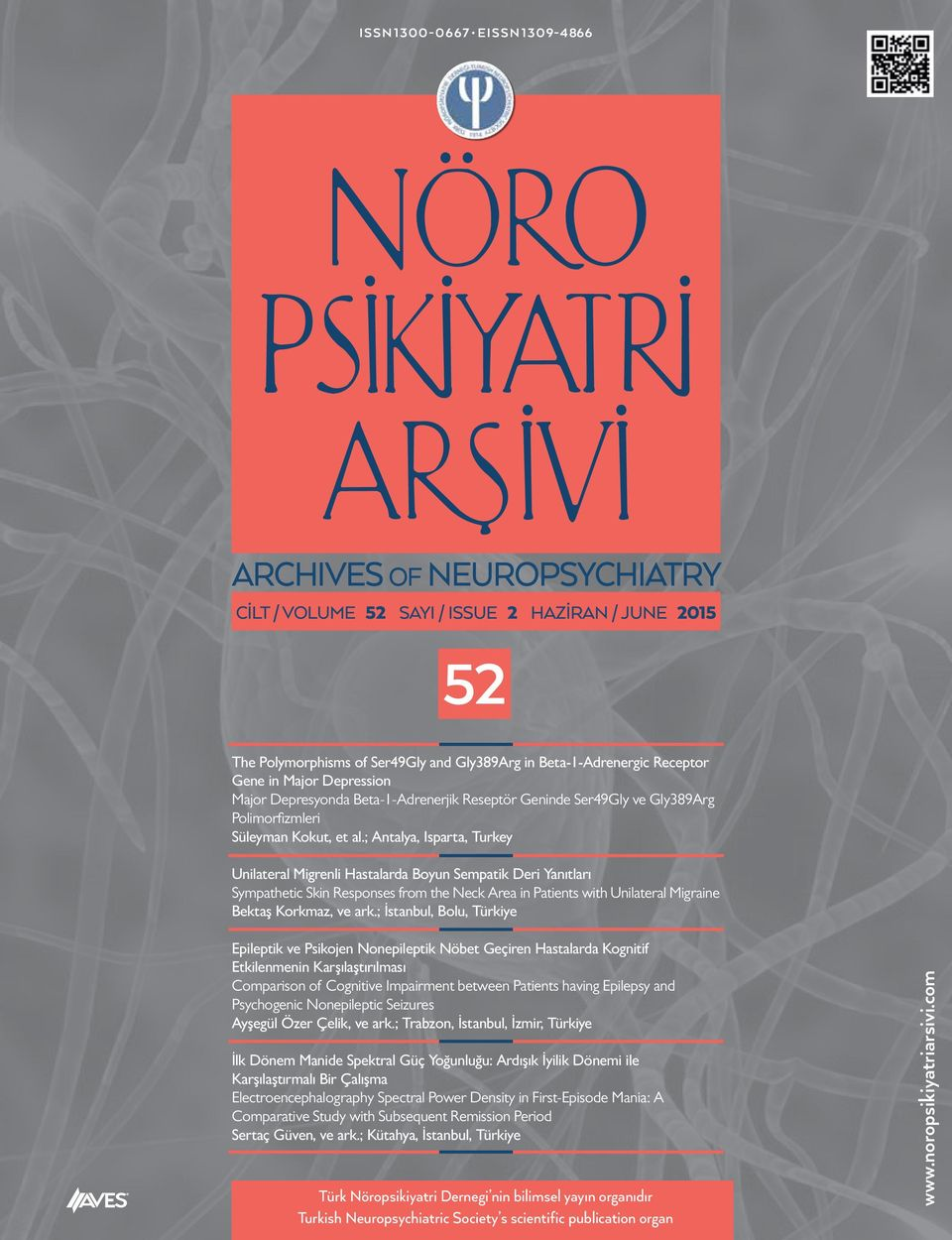 ; Antalya, Isparta, Turkey Unilateral Migrenli Hastalarda Boyun Sempatik Deri Yanıtları Sympathetic Skin Responses from the Neck Area in Patients with Unilateral Migraine Bektaş Korkmaz, ve ark.