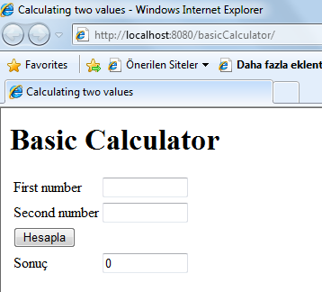 "<html> <head> <title>calculating two values</title> </head> <body> <h1>basic Calculator</h1> <form method=""post"" action=""index."