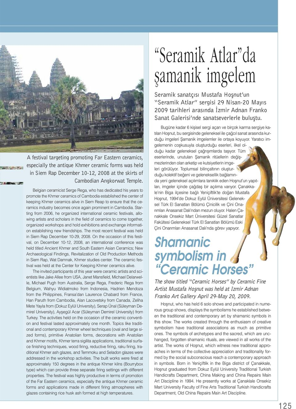 Belgian ceramicist Serge Rega, who has dedicated his years to promote the Khmer ceramics of Cambodia established the center of keeping Khmer ceramics alive in Siem Reap to ensure that the ceramics