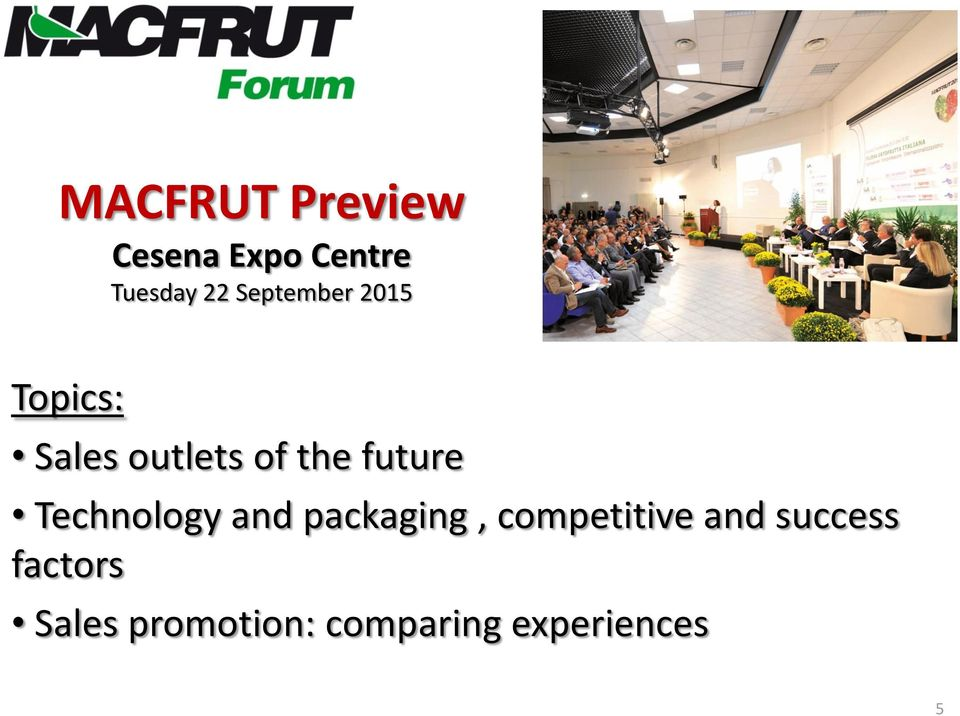 future Technology and packaging, competitive and