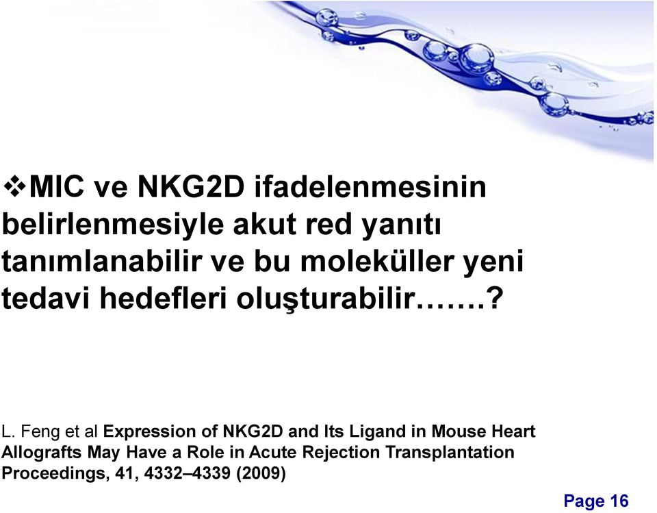 Feng et al Expression of NKG2D and Its Ligand in Mouse Heart Allografts