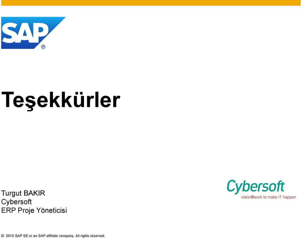 Yöneticisi 2015 SAP SE or an