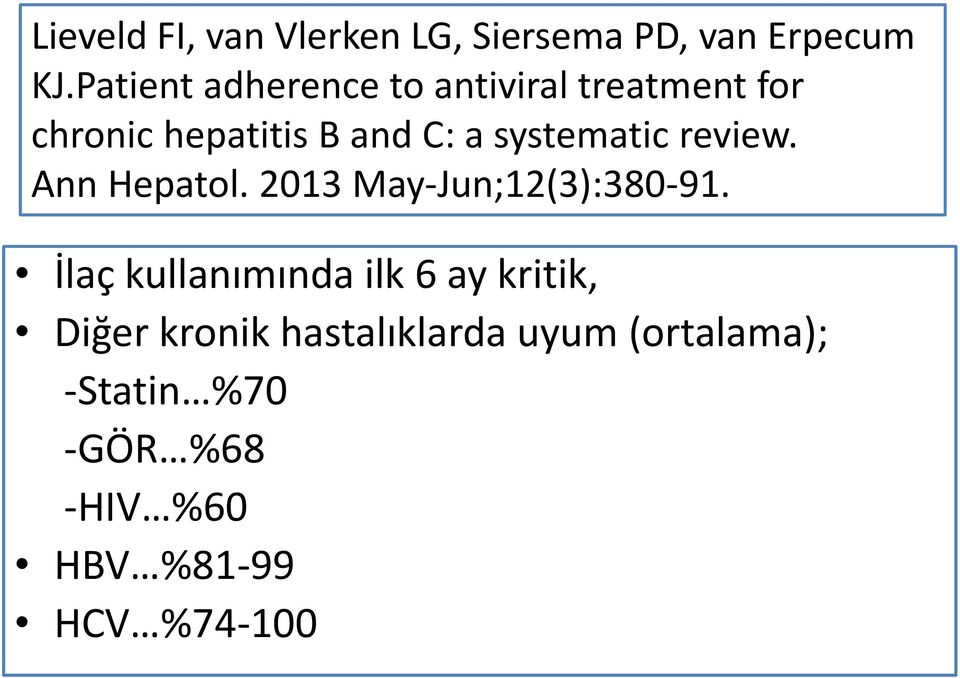 systematic review. Ann Hepatol. 2013 May-Jun;12(3):380-91.