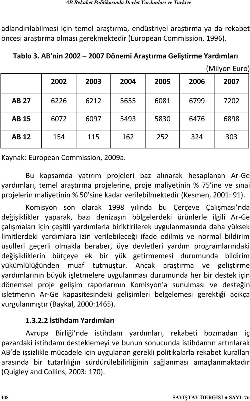303 Kaynak: European Commission, 2009a.