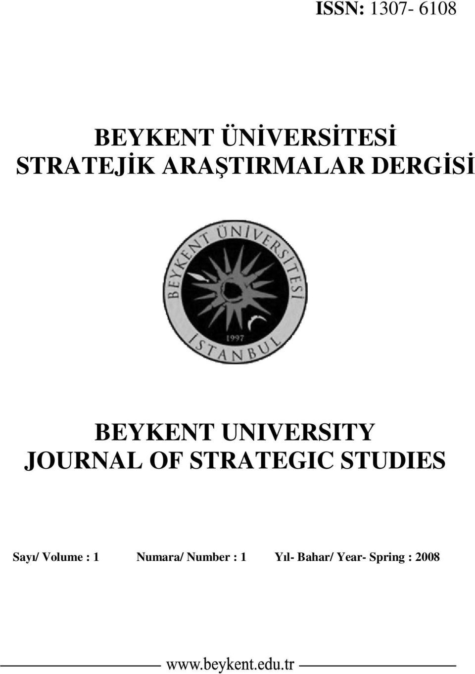 UNIVERSITY JOURNAL OF STRATEGIC STUDIES Sayı/