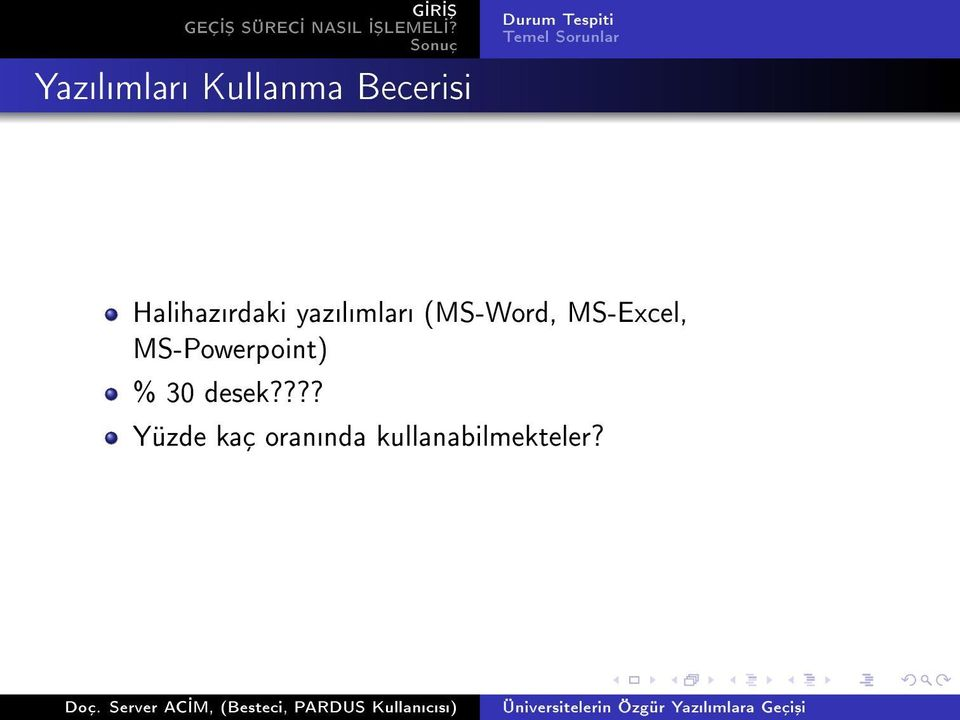 MS-Excel, MS-Powerpoint) % 30