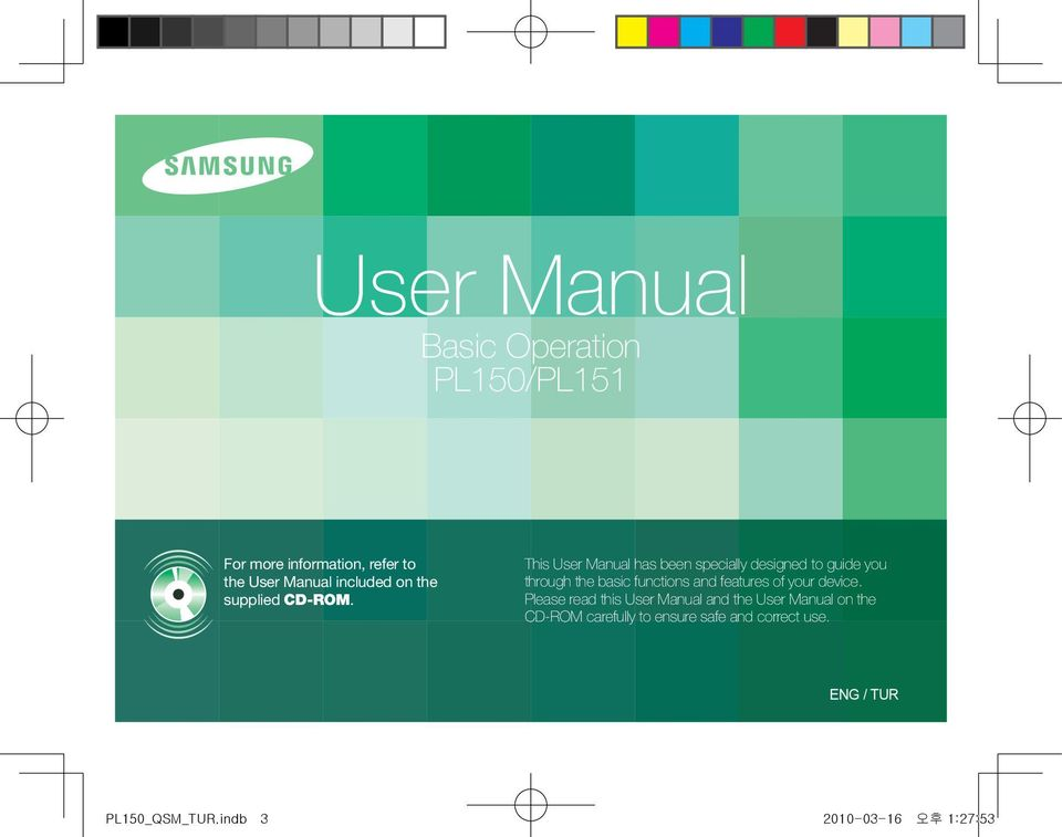 This User Manual has been specially designed to guide you through the basic functions and