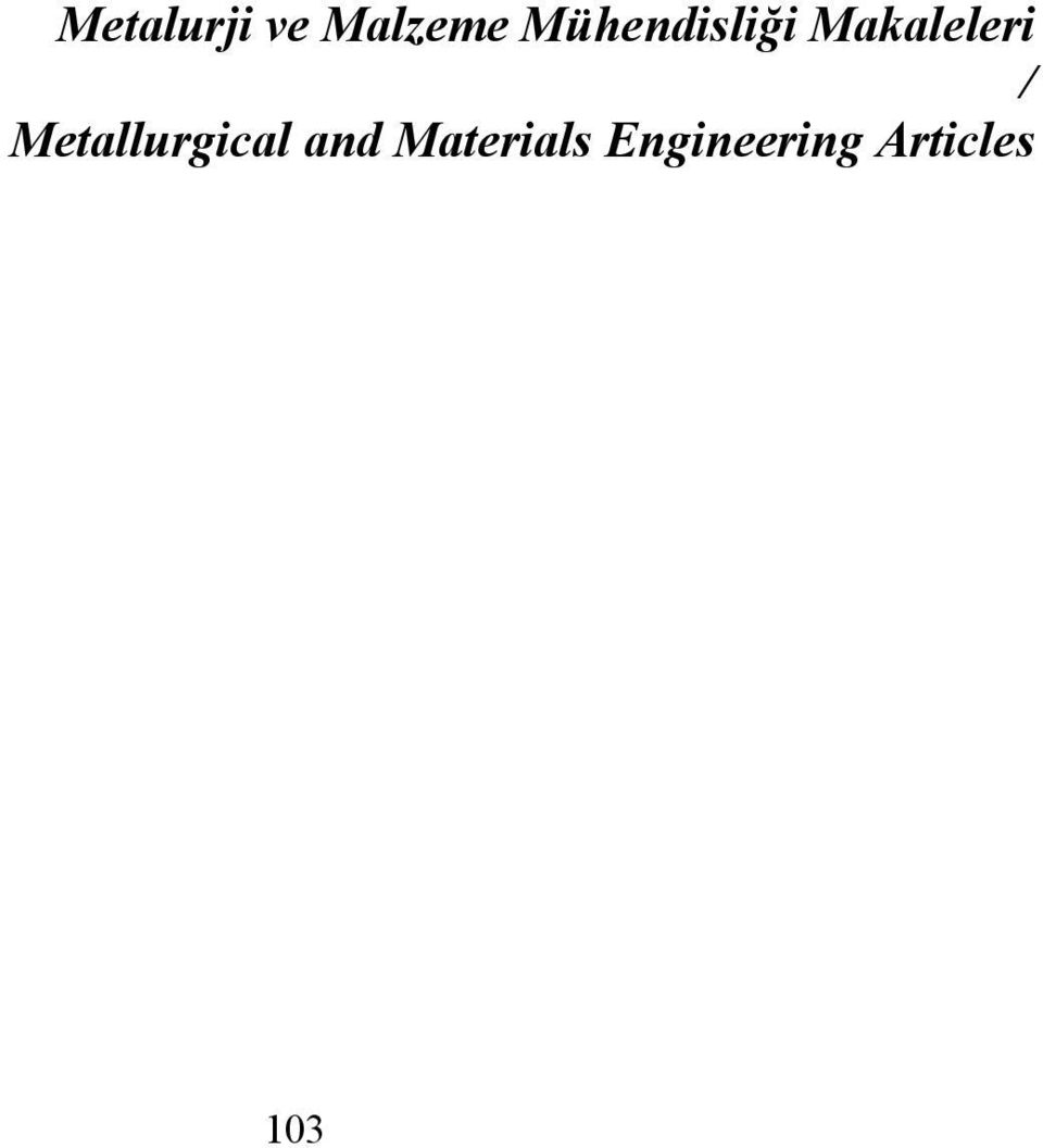 / Metallurgical and