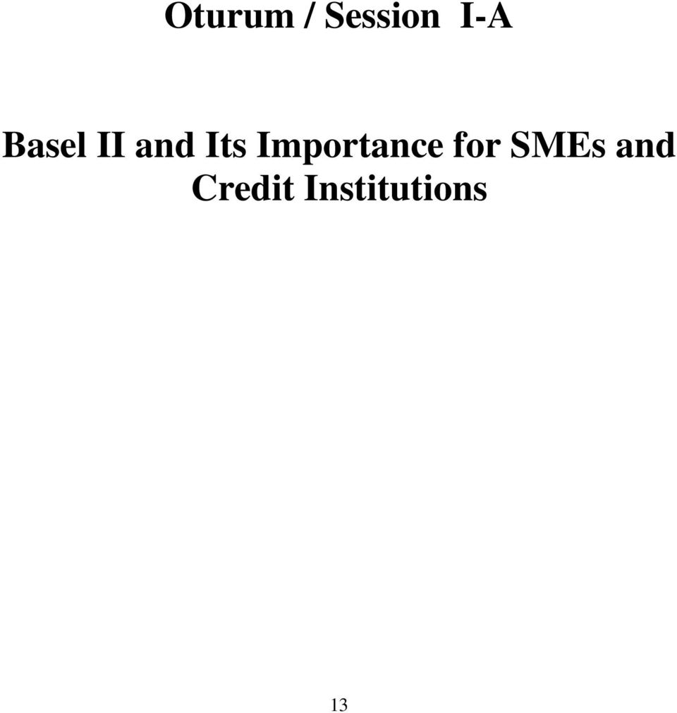 Importance for SMEs