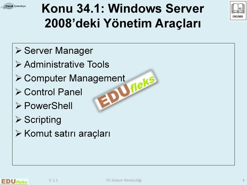 Server Manager Administrative Tools Computer