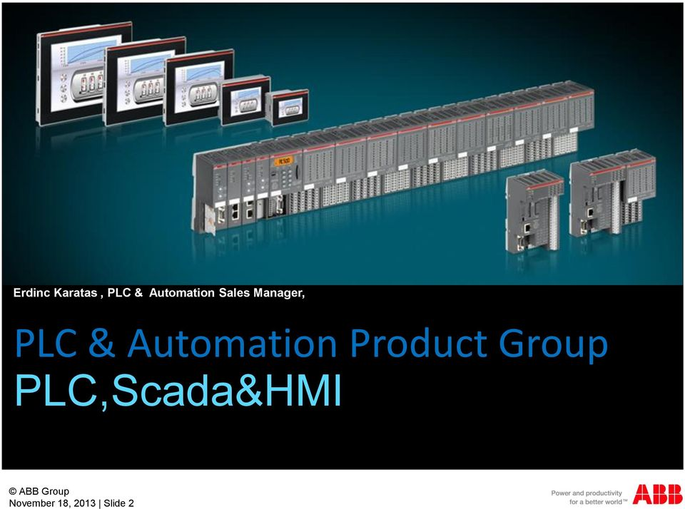 & Automation Product Group