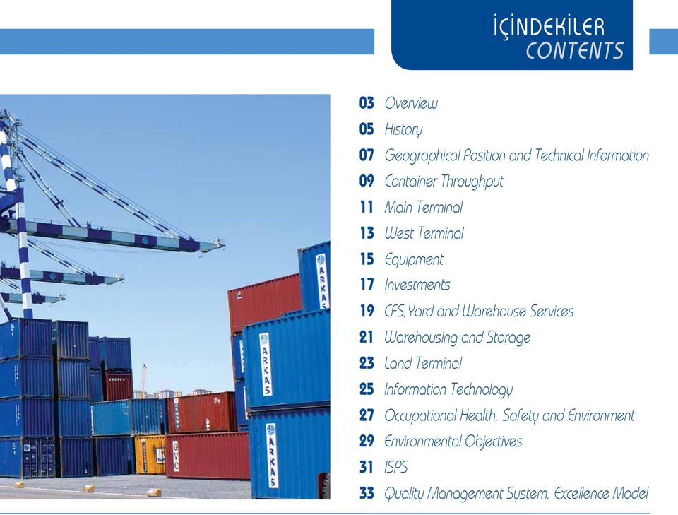 Investments CFS,Yard and Warehouse Services Warehousing and Storage Land Terminal Information