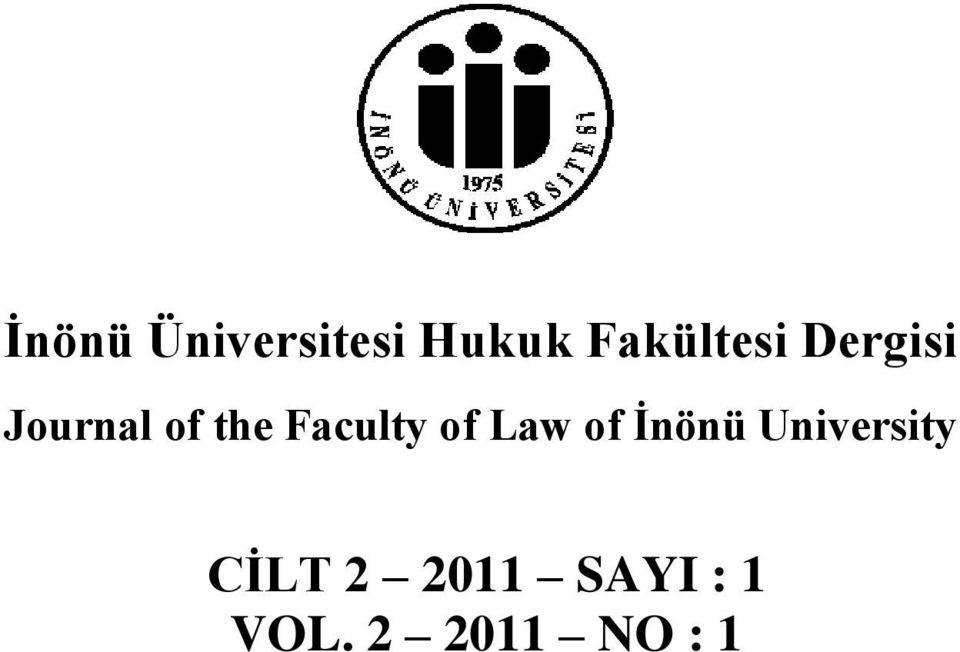 Faculty of Law of İnönü