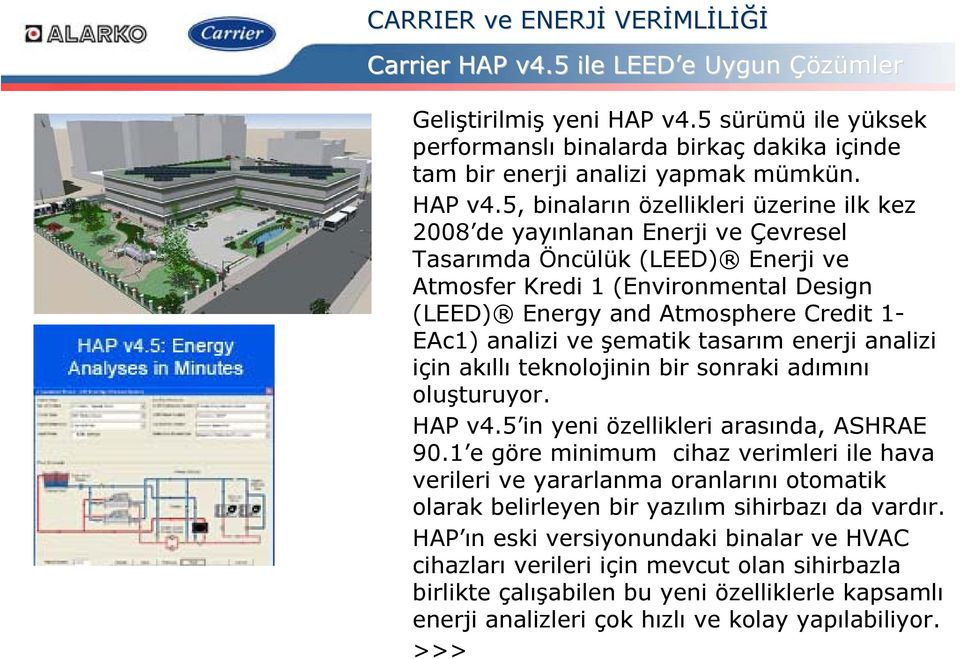5, binaların özellikleri üzerine ilk kez 2008 de yayınlanan Enerji ve Çevresel Tasarımda Öncülük (LEED) Enerji ve Atmosfer Kredi 1 (Environmental Design (LEED) Energy and Atmosphere Credit 1- EAc1)