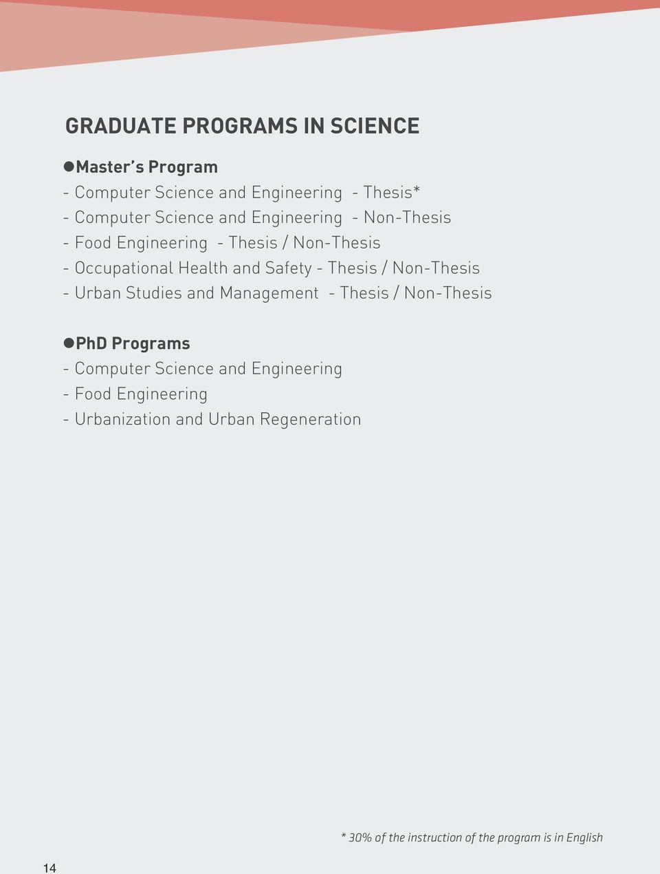 / Non-Thesis - Urban Studies and Management - Thesis / Non-Thesis PhD Programs - Computer Science and