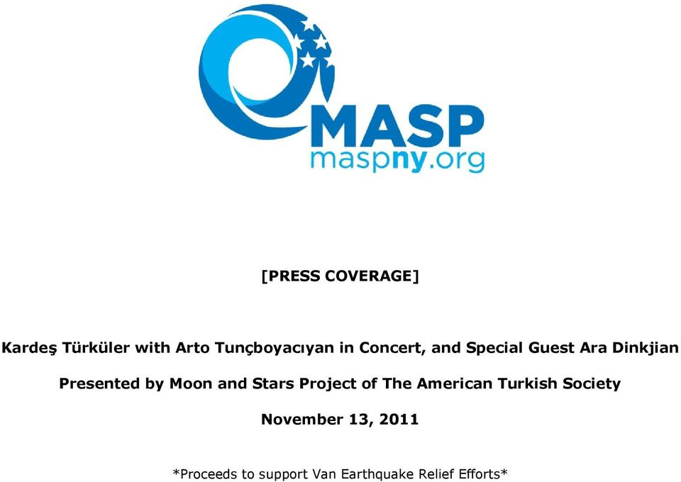 and Stars Project of The American Turkish Society November