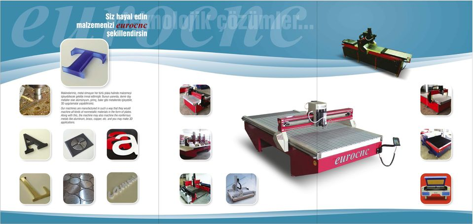 Our machines are manufactured in such a way that they woud machine a kinds of nonmetaic materias in the form of pates.