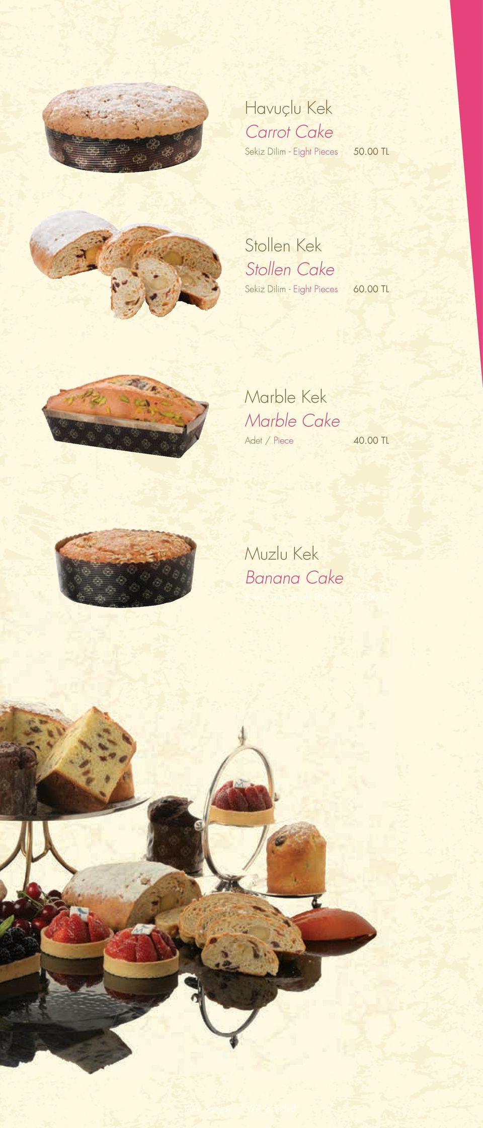 00 TL Marble Kek Marble Cake Adet / Piece