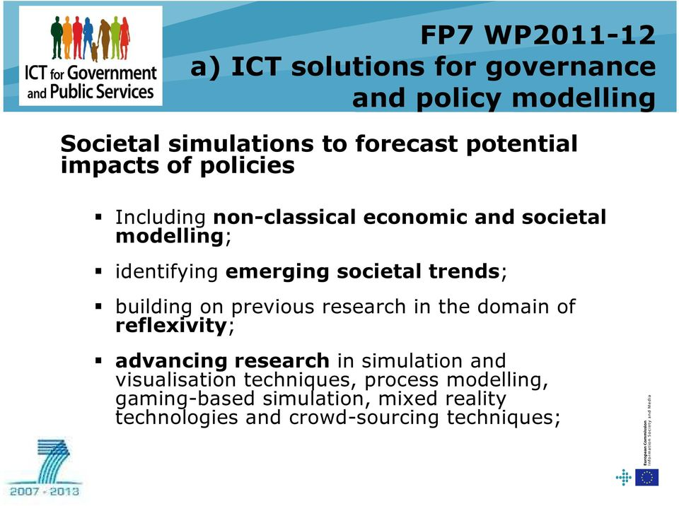 trends; building on previous research in the domain of reflexivity; advancing research in simulation and