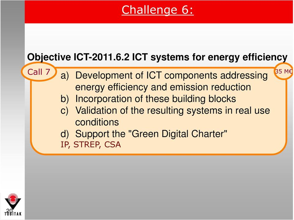 2 ICT systems for energy efficiency Call 7 a) Development of ICT components