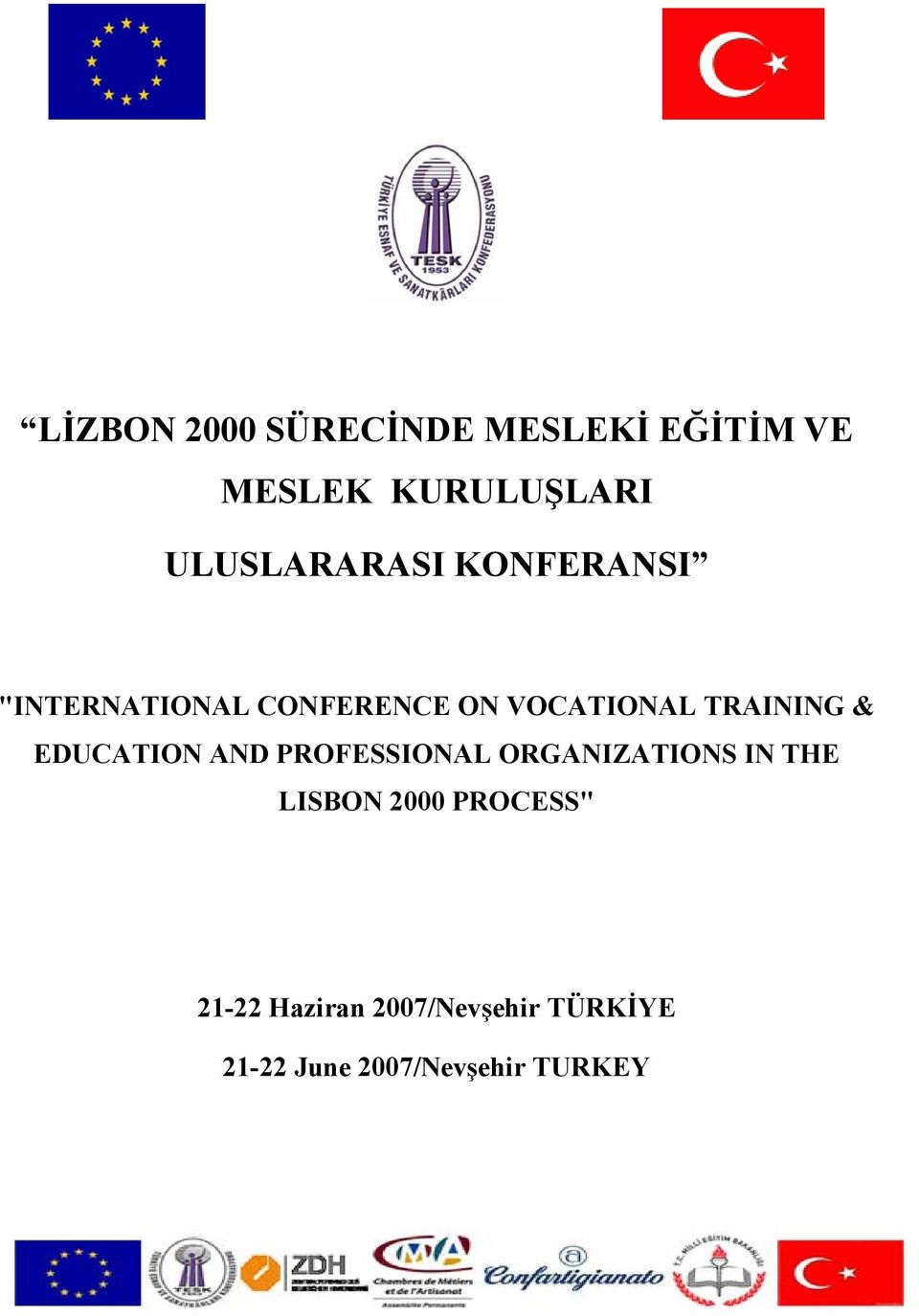 TRAINING & EDUCATION AND PROFESSIONAL ORGANIZATIONS IN THE LISBON