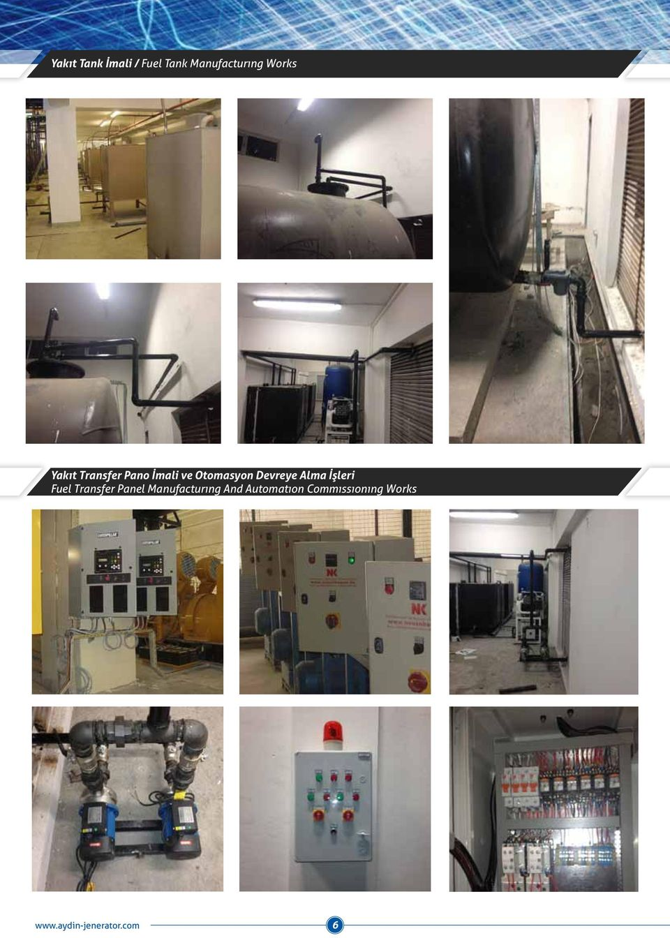 Alma İşleri Fuel Transfer Panel Manufacturıng And