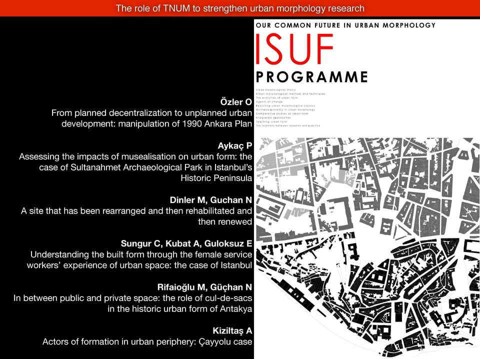 then rehabilitated and then renewed Sungur C, Kubat A, Guloksuz E Understanding the built form through the female service workers experience of urban space: the case of Istanbul