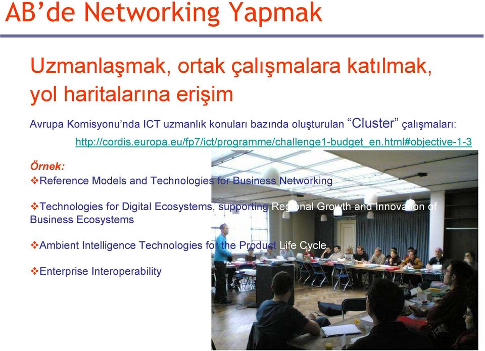 html#objective-1-3 Örnek: Reference Models and Technologies for Business Networking Technologies for Digital Ecosystems,