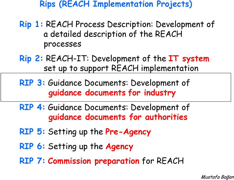 Documents: Development of guidance documents for industry RIP 4: Guidance Documents: Development of guidance