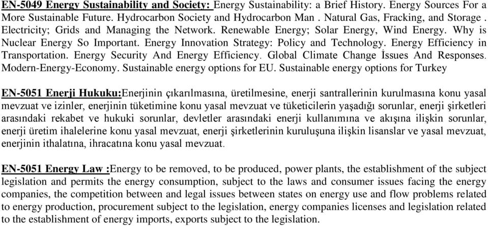 Energy Innovation Strategy: Policy and Technology. Energy Efficiency in Transportation. Energy Security And Energy Efficiency. Global Climate Change İssues And Responses. Modern-Energy-Economy.