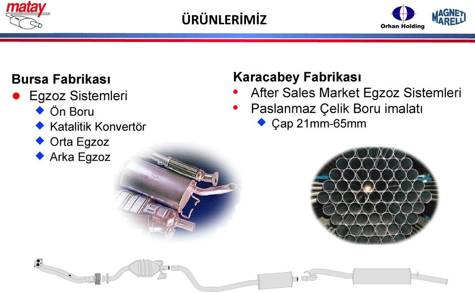 Karacabey Fabrikası After Sales Market Egzoz