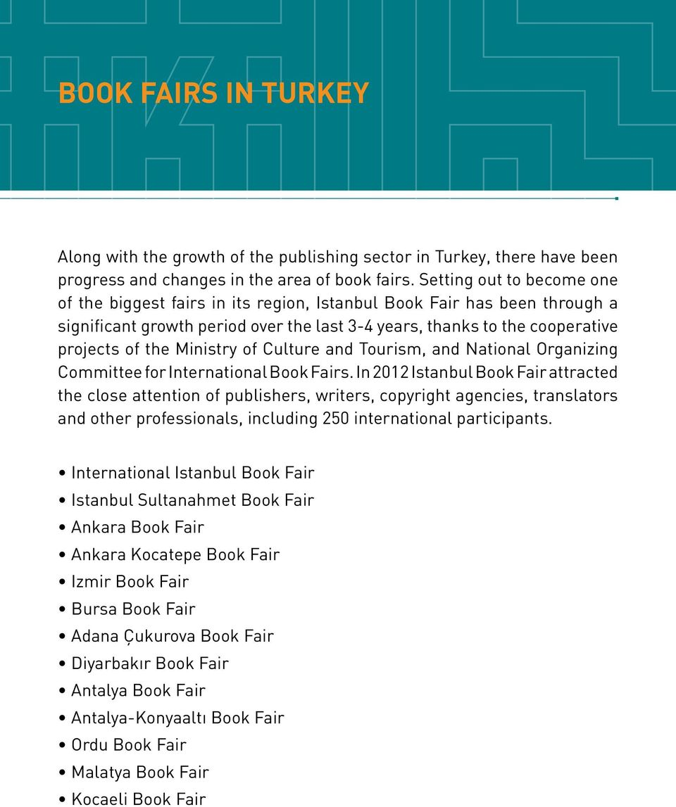 Ministry of Culture and Tourism, and National Organizing Committee for International Book Fairs.