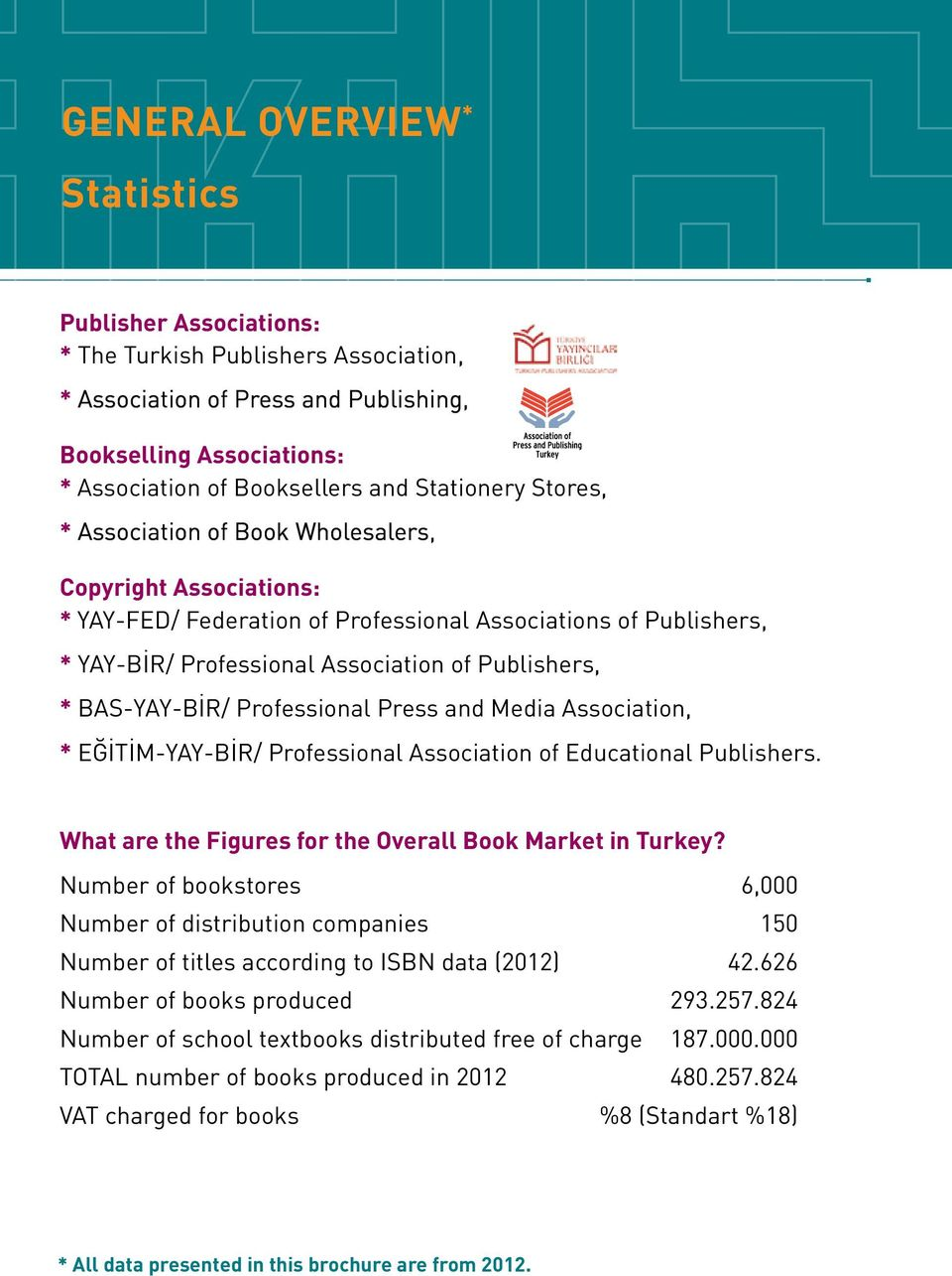 BAS-YAY-BİR/ Professional Press and Media Association, * EĞİTİM-YAY-BİR/ Professional Association of Educational Publishers. What are the Figures for the Overall Book Market in Turkey?