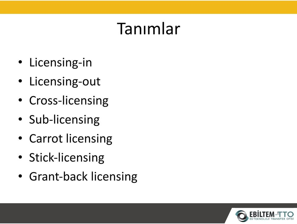 Sub-licensing Carrotlicensing