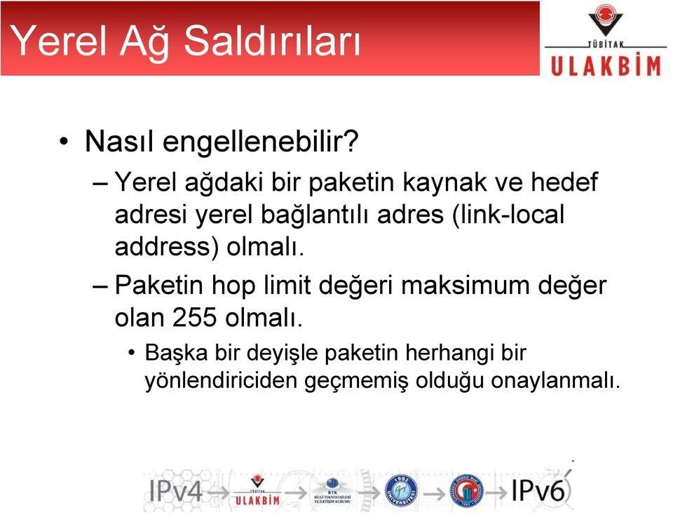 (link-local address) olmalı.