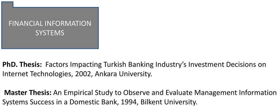 on Internet Technologies, 2002, Ankara University.