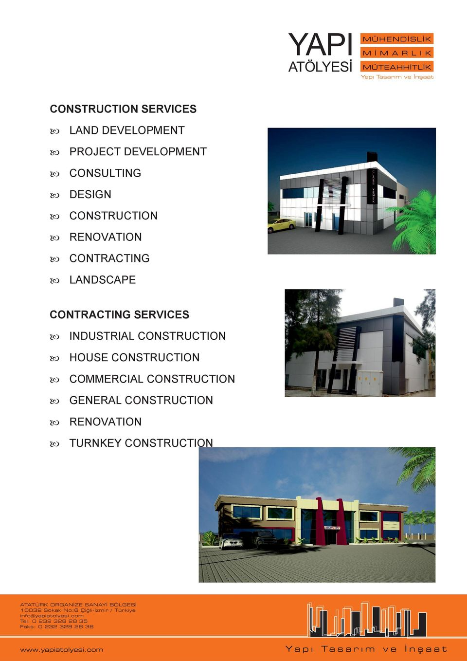 CONTRACTING SERVICES INDUSTRIAL CONSTRUCTION HOUSE CONSTRUCTION