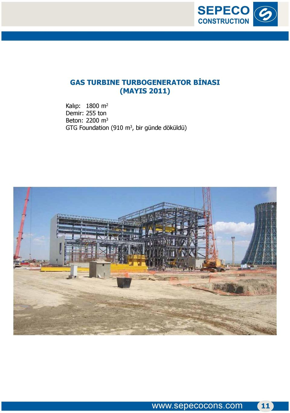 ton Beton: 2200 m 3 GTG Foundation (910