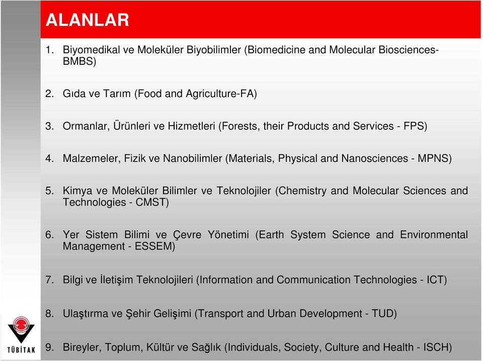 Kimya ve Moleküler Bilimler ve Teknolojiler (Chemistry and Molecular Sciences and Technologies - CMST) 6.