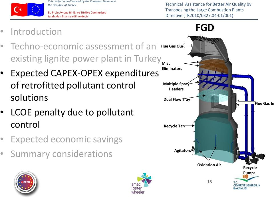 LCOE penalty due to pollutant control Expected economic savings Summary considerations Flue Gas Out Mist