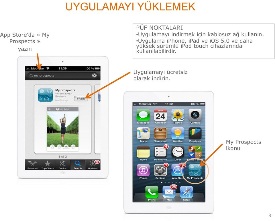 Uygulama iphone, ipad ve ios 5.