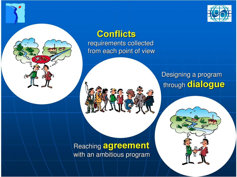 program through dialogue Reaching