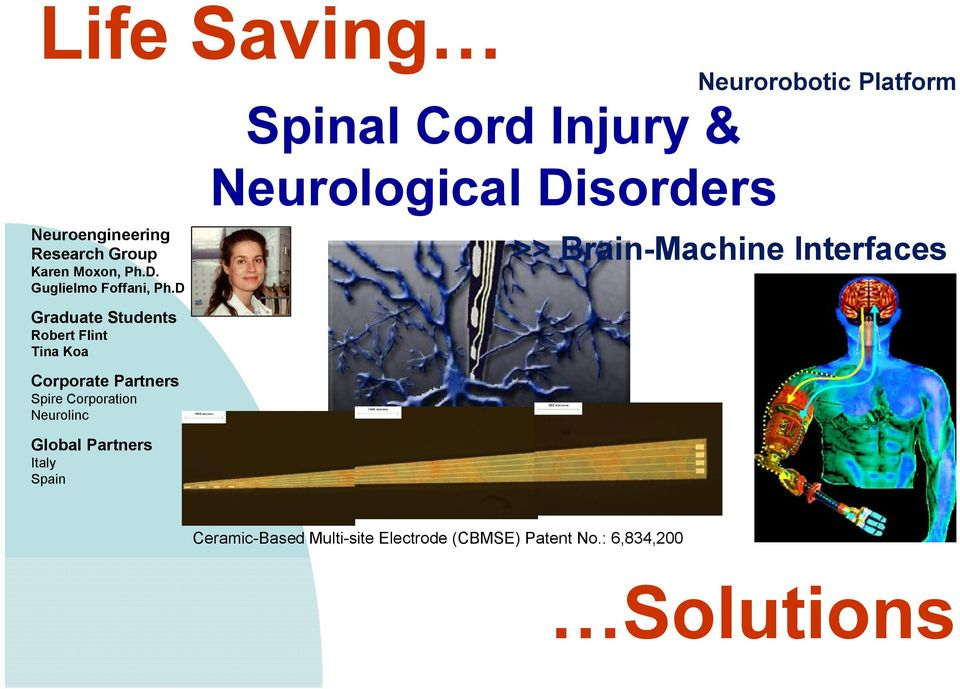Global Partners Italy Spain Spinal Cord Injury & Neurological Disorders Neurorobotic